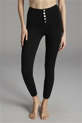 button-detailed-shaper-jeggings